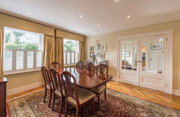 The formal dining room area