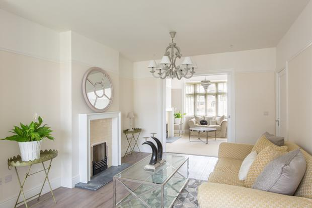 The interlinking reception rooms - living room and sitting room