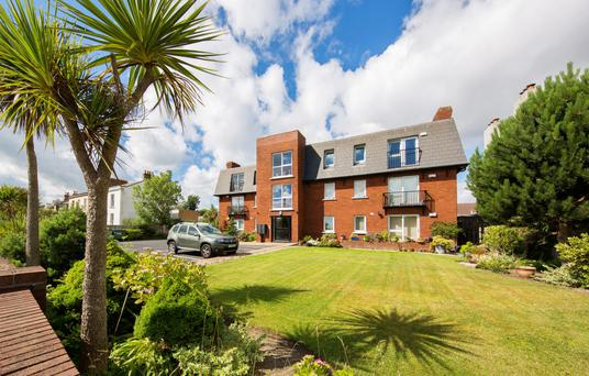 Strand House is a block of 12 apartments right on the seafront in Sandymount