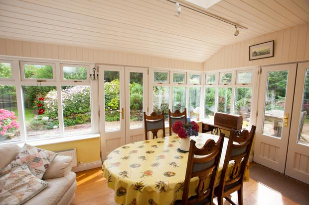 Inside the sunroom
