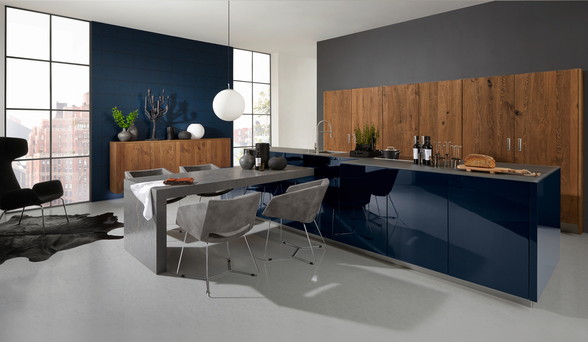 The NovaLack kitchen interior from Kube