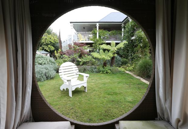 Diarmuid Gavin has puncuated his garden with many focal points. Photo: Fran Veale