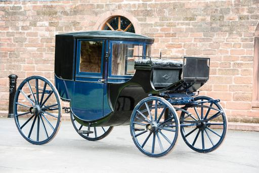 A brougham used as a town coach by the Gore Booth family