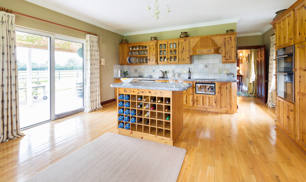 The large kitchen/breakfast room