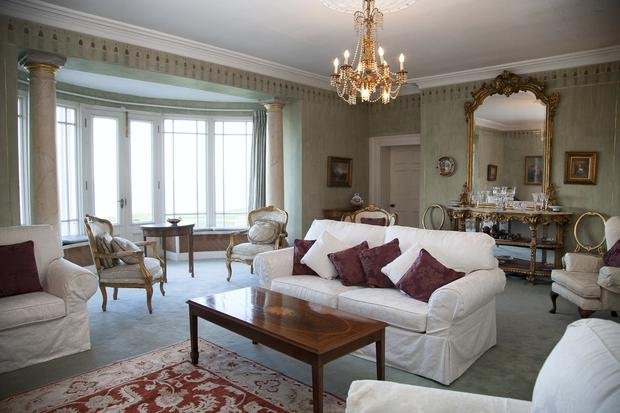 The drawing room with long sea views