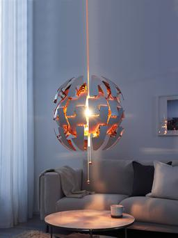 The IKEA PS 2014 pendant lamp can open up to project more light