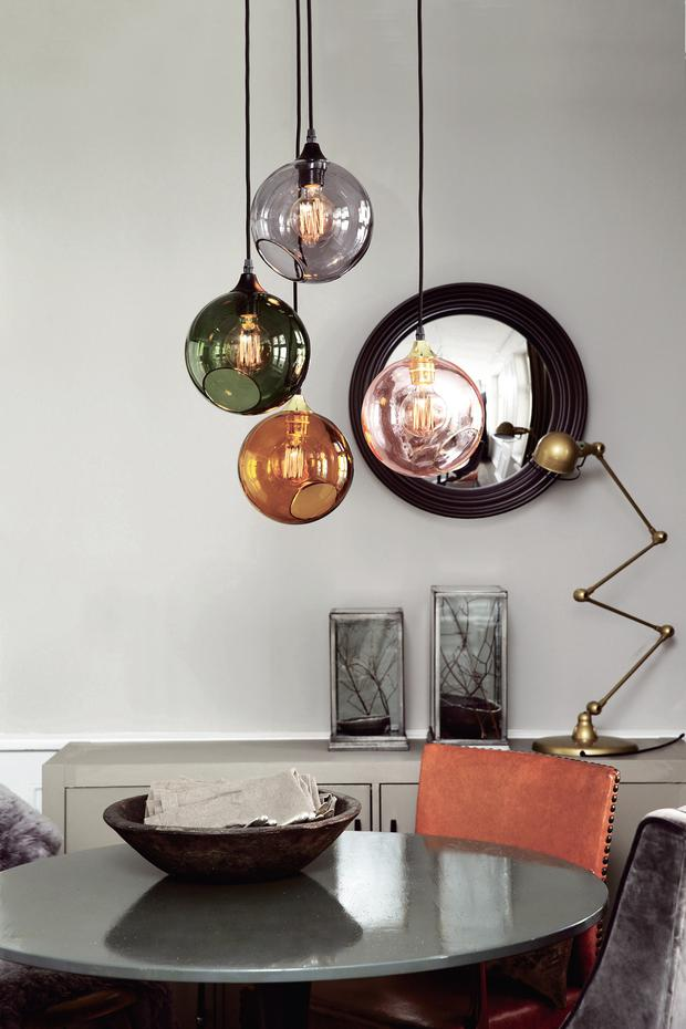 A cluster of pendants from Nordic Elements looks better than a single light