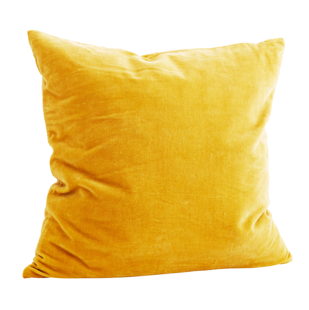 Cushion, €40. Add pops of mustard with cushions and throws if you're new to the tone; dust.ie