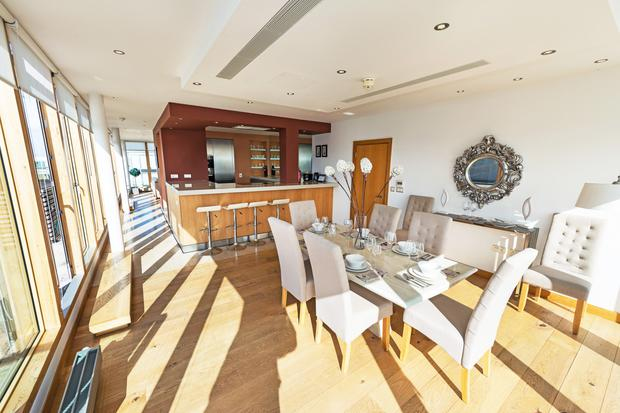 The dining area off the kitchen