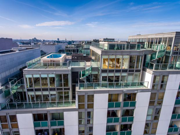 Check out these 1m luxury penthouses in dublin city centre with individual rooftop pools and Swimming pools in dublin city centre