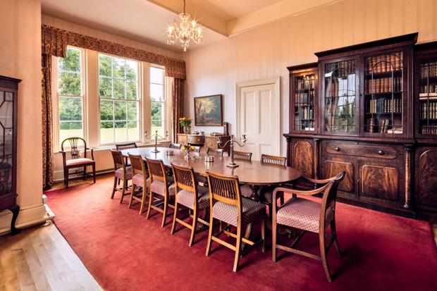 The dual-aspect dining room