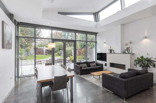 The contemporary extension added by Olga Keenan Architects