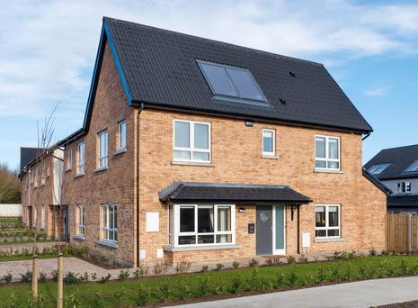 The homes at Oaktree are fitted with solar panels