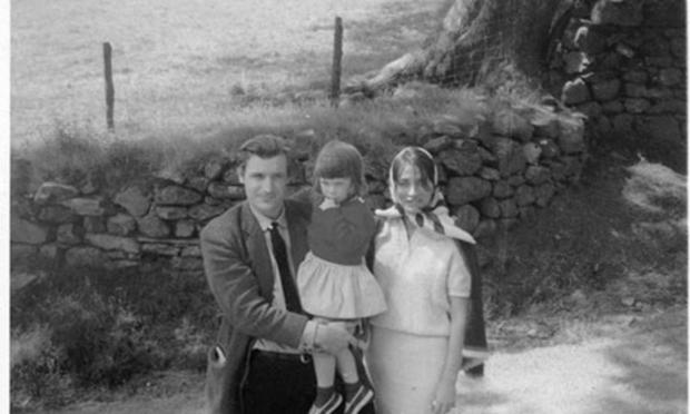 Ted Hughes and Assia Wevill with daughter Shura