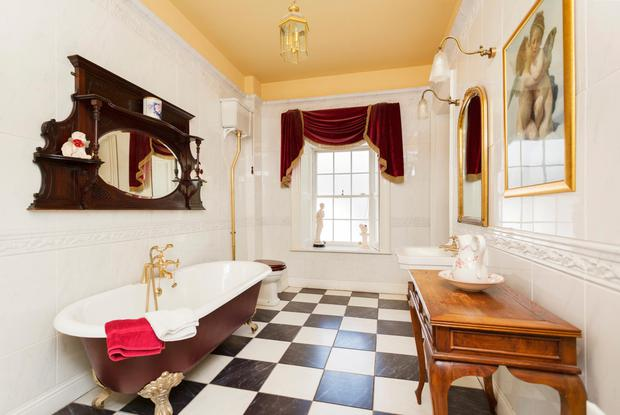 One of the period style bathrooms