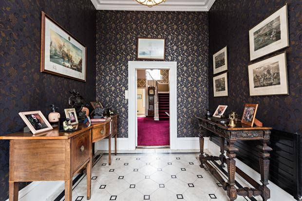 Blackhall's entrance hall leads through to the main hall