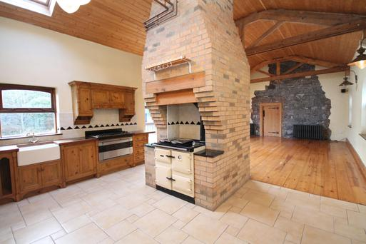 The elaborate chimney serves the living-room fire and the kitchen range