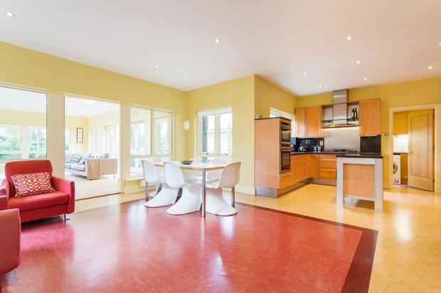 The open-plan kitchen and breakfast room