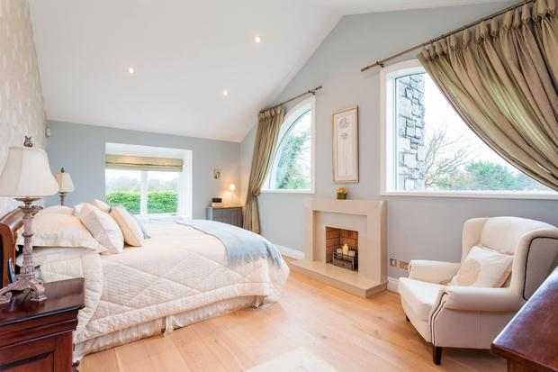 The double aspect master bedroom