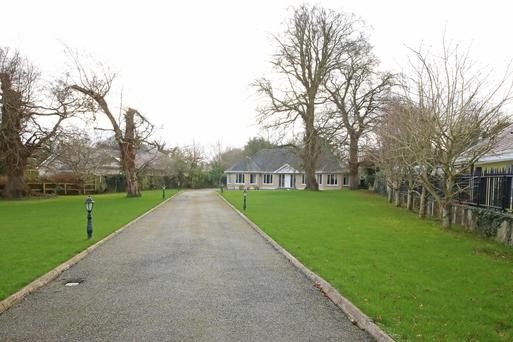The detached dormer bungalow is on an acre of garden with planning for two more houses