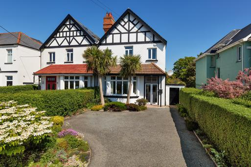 The house at 98 Dublin Road is semi-detached and features a 176ft-long back garden