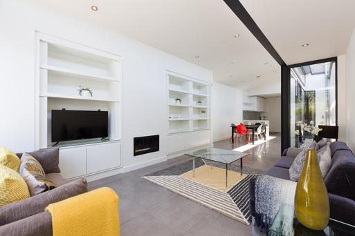 The open-plan living room