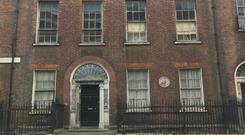 The facade of 7 Henrietta Street, one of the largest houses in Dublin