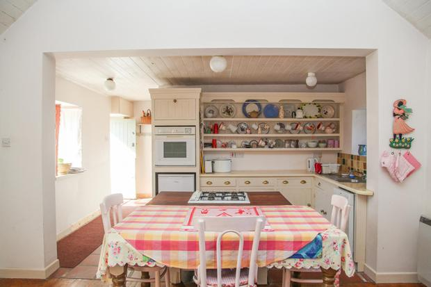 The open-plan kitchen/dining