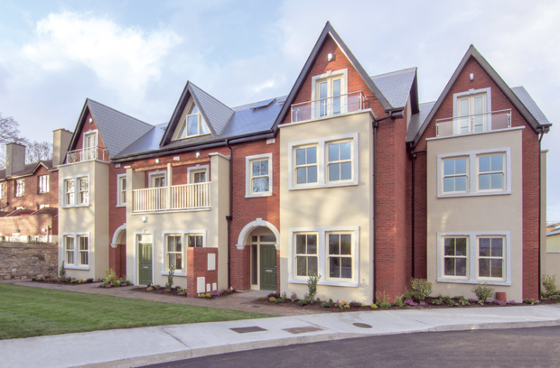 A mix of render and brick with granite on the Victorian-style exteriors.