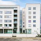 The apartment is located on the fourth floor of Grand Canal Wharf on South Dock Road