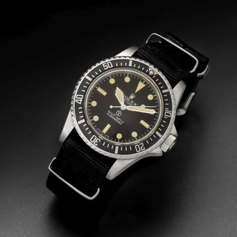 Rolex stainless steel military issue watch