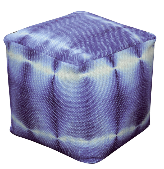 Blue tie-dye pouffe,€77: Not just perfect for putting your feet up after a long day, pouffes add a pop of colour if you want to go gently with a trend; Ksl-living.fr