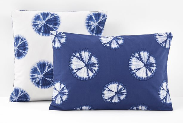 Akira-printed pillow cases, €11.69: If a bedspread is too much, play with shibori patterns, subtly; laredoute.com