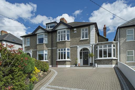 The four-bed semi-detached home is located close to the promenade at Clontarf