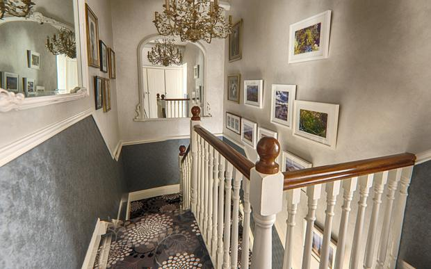 One of the two staircases in the house
