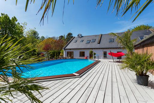 There is a heated outdoor pool in the back garden of The Gables, near Ashford in Co Wicklow