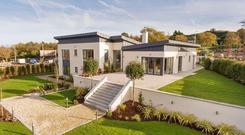 The showhouse at Cluain Aedin comes with a half acre site and views across Dublin Bay