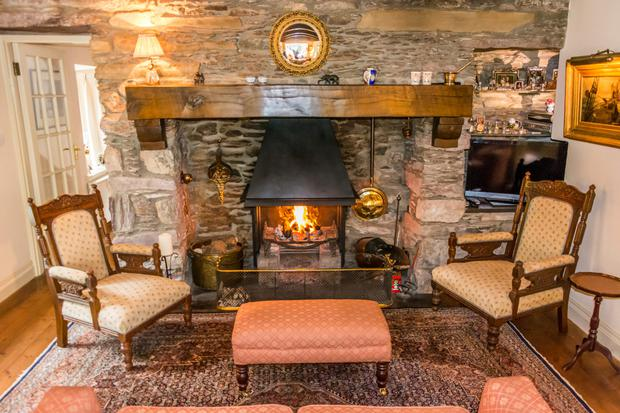 A reception room with open fire