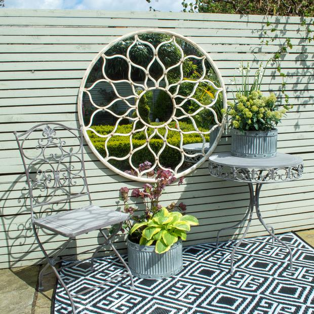 Mia Fleur mirror and bistro table and chairs