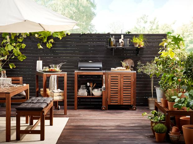 An outdoors set-up from Ikea