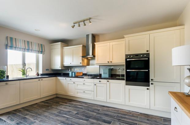 Buyers can choose from a range of finishes for the kitchen