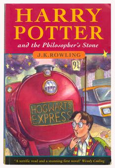 A first edition of Harry Potter And The Philosopher's Stone sold at Bonhams for £43,750