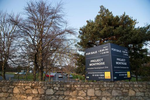 Some property market watchers are 'flabbergasted' at the €107.5m price paid for the 8.5-acre site at Montrose