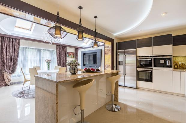 The open-plan kitchen, breakfast room and diner