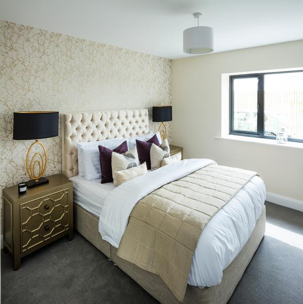 The master bedroom is ensuite