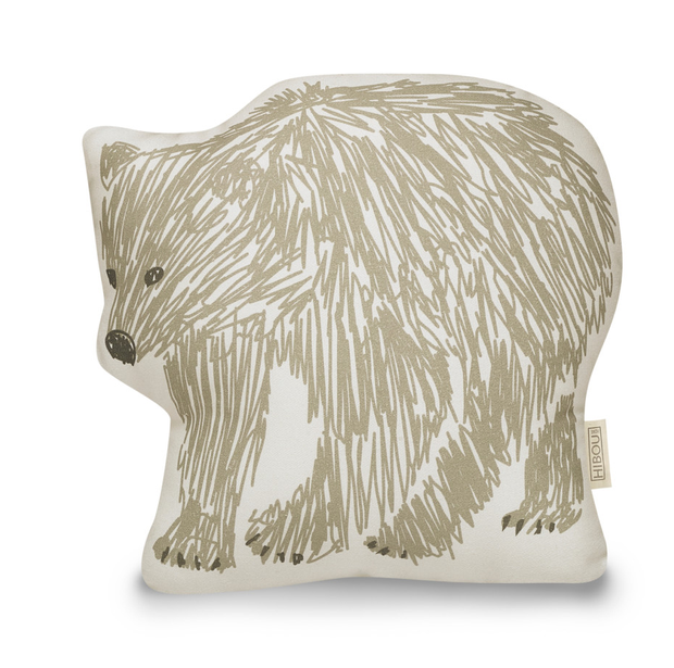 Brown bear cushion, €26.28. From the Into the Wild wallpaper range (available at the Fabric Mill, Co Kildare), this line drawn bear doubles up as a cuddly pal, as well as a cushion; hibouhome.com