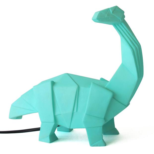 Green dinosaur lamp, €49. Dinosaurs seem to be the animal of choice for young kids nowadays. Combine them with a night light for a comforting sleep, and you're on to a winner; moss.ie