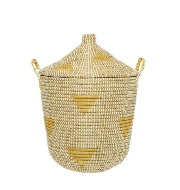Teepee basket, €75. Tidy up toys in a cinch, at the end of a busy day, with a nicely-sized basket; lambdesign.ie