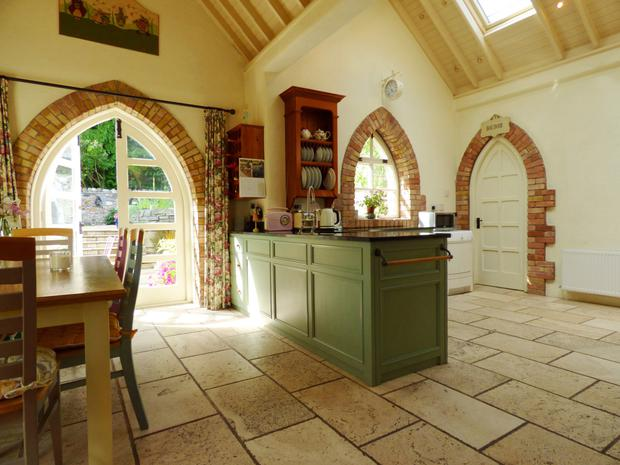 Kitchen with double doors out to the garden