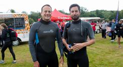 Suits you sirs: Housing Minister Eoghan Murphy and Taoiseach Leo Varadkar pictured together in a week when it was learned that 3,000 Irish children are homeless